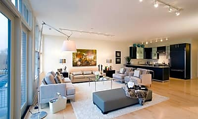 Living Room, The District Lofts, 1