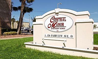 Community Signage, Central Manor Apartments, 2