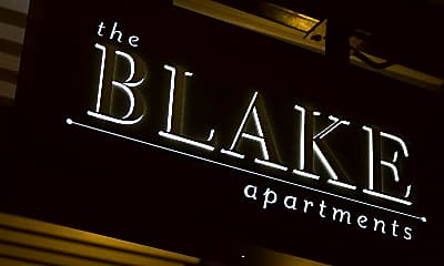 Community Signage, The Blake Apartments, 1