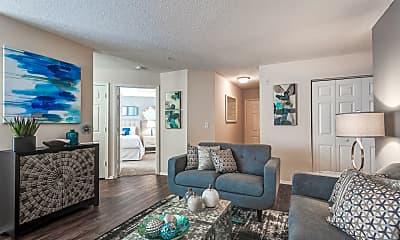 Living Room, Riverwalk Apartments, 1