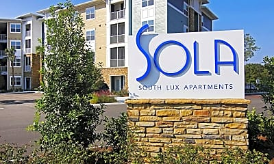 Community Signage, Sola South Lux Apartments, 2