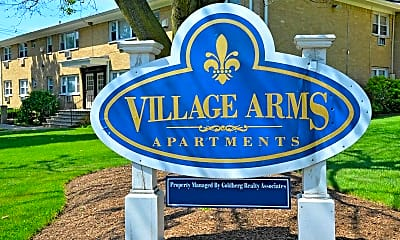 Community Signage, Village Arms Apartments, 2