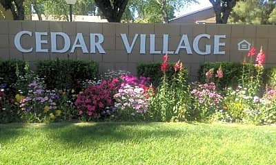 Community Signage, Cedar Village, 1