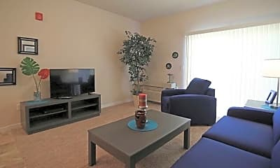 Living Room, Fairways at Hunter Run Apartments, 2