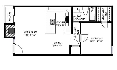 Bathroom, 4535-4545 Live Oak St, 2