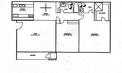 Bedroom, 3021 N Pointe Dr, 2
