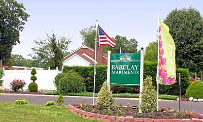 Community Signage, Barclay Apartments, 2