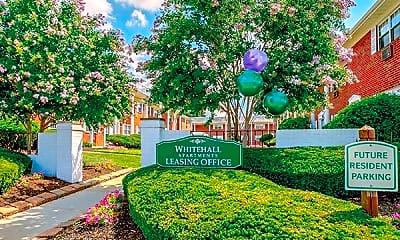 Community Signage, Whitehall Apartments, 1