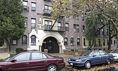 Building, 555 Ovington Apartments, 1