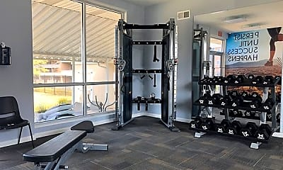 Fitness Weight Room, Woodbourne Apartments, 2
