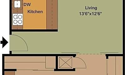 Kitchen, 1451 3rd St, 2