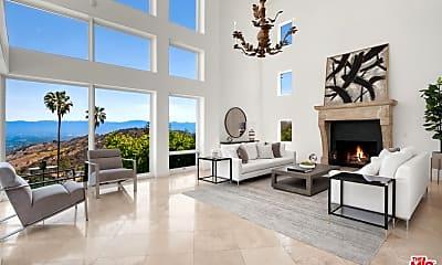 Living Room, 14435 Mulholland Dr, 0