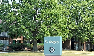 Community Signage, St. Gregory Apartments, 0