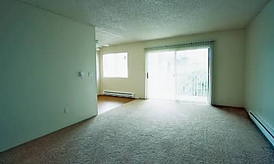 Living Room, Falls Pointe Apartments, 1