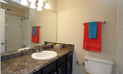 Bathroom, Twin Oaks Apartments, 2
