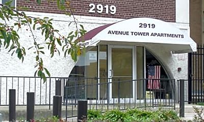 Community Signage, Avenue Tower Apartments, 0