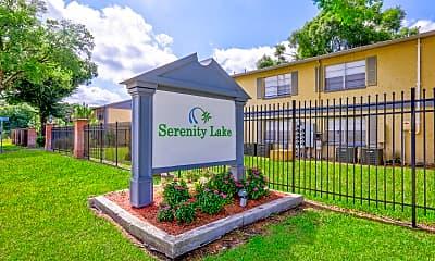 Community Signage, Serenity Lake, 1