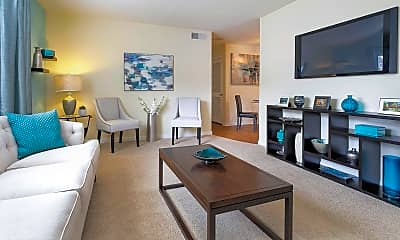 Living Room, Holly Hills Apartments, 1