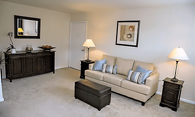 Living Room, Highland Manor Apartments, 2