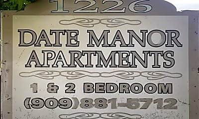 Date Manor-Closed, 1