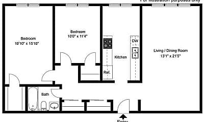Fitness Weight Room, Country Chalet Apartments, 2