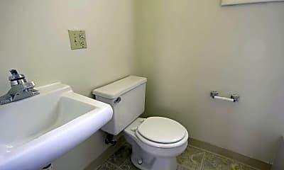 Bathroom, Village Manor Apartments, 2