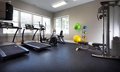 Fitness Weight Room, Abbott Landing, 2