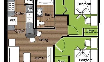 Bathroom, 707 S 6th St, 2