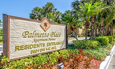Community Signage, Palmetto Place, 2