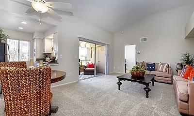 Living Room, Bella Vista Apartments, 1