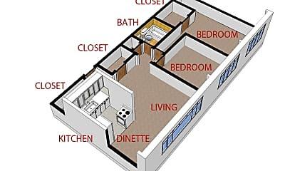 Bedroom, 930 Sherman St, 2