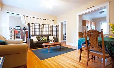 Living Room, 1576 Oak, 1