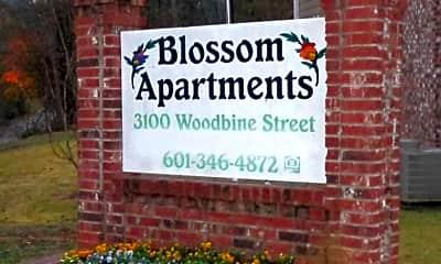 Community Signage, Blossom Apartments, 2