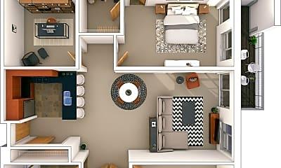 Living Room, 1100 N Cass St, 2