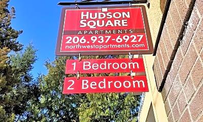 Community Signage, 4850 California Ave. SW HudsonSquare@northwestapartments.com, 2