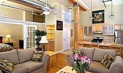 Living Room, Petersburg Lofts, 0