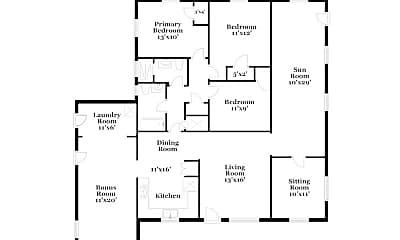 Bedroom, 3615 Macgregor Dr, 2