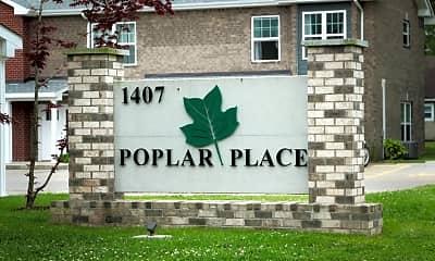 Community Signage, 1407 Poplar St, 1