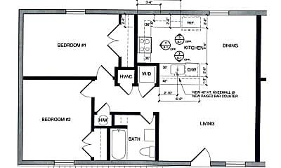 Bedroom, 314 E Hutchison St, 2