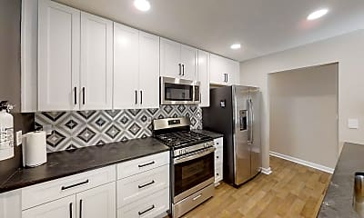 Kitchen, Room for Rent - **FRESH NEW HOME** Bus stop 5 hous, 1