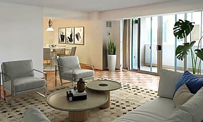 Living Room, 4601 N Park Ave 206F, 0