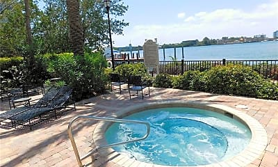 Pool, Water and Sunset views  17100 N Bay Rd, 2