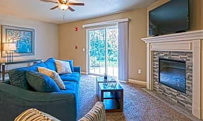 Living Room, Green Meadows Townhomes, 1