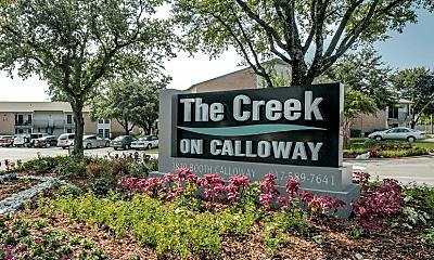 Community Signage, The Creek on Calloway, 1