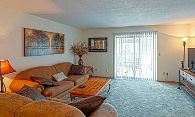 Living Room, Tall Oaks Apartment Homes, 1