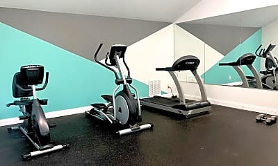 Fitness Weight Room, Silver Creek Apartments, 2