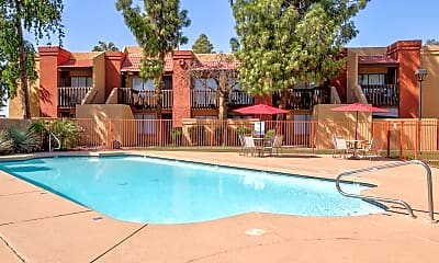 Pool, Red Sage Apartments, 2