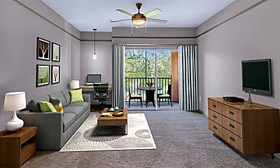 Living Room, Residences at West Place Apartments, 1