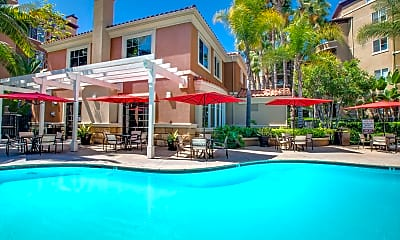 Pool, Villas at Park La Brea Apartments, 0
