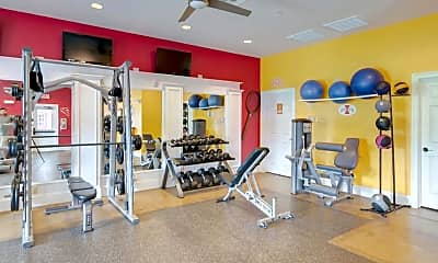 Fitness Weight Room, The Grove Apartments - Per Bed Lease, 1